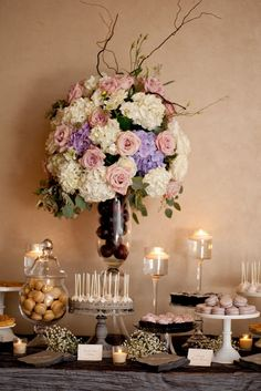 Dessert Table with Gorgeous Arrangement
