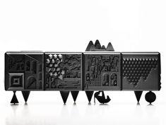 MDF sideboard with doors TOUT VA BIEN by BD Barcelona Design design Antoine + Manuel