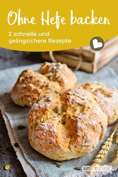 Backen ohne Hefe If you no longer have yeast in your house, you don't have to do without bread and rolls. With these recipes, bread rolls and bread without yeast succeed. Dessert Recipes For Kids, Kid Desserts, Dessert Cake Recipes, Easy No Bake Desserts, Healthy Dessert Recipes, Dessert Express, Pan Rapido, Nutella, Cooking Recipes