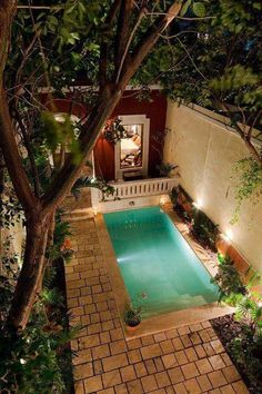 Merida house rental - Courtyard view from master suite Pool at Casa Hermana Vacation Rental in Merida Yucatan Mexico small backyard Courtyard view from main bedroom. 24 Outstanding Transitional Swimming Pool Designs That Will Make You Jealous Take a look