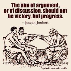 Aim of an argument