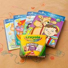 gift set 2 curious george monkey big fun to color coloring books crayons 72 stickers and 24 pc farmer puzzle in lunchbox bundle 5 items curious g - Coloring Book Crayons