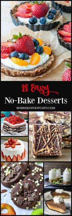 28 Ridiculously Easy No-Bake Desserts from www.bobbiskozykitchen.com