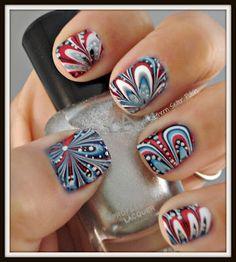 Southern Sister Polish: Nail Art Wednesday.... Happy 4th of July