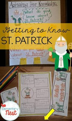Educational activities to help students learn about St. Patrick. A blog post with ideas for reading and writing activities for first and second graders