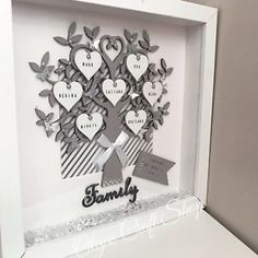 Family Scrabble 3D Box Frame. Keepsake Gift, Birthday,Christmas,Wedding,Love | eBay