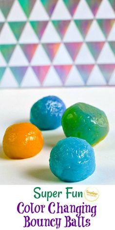 Our color-changing slime recipe was so much fun that we decided to try making color-changing bouncy balls! Your kids will love doing this activity! Plus, the balls are so much fun to play with once you are finished making them! They are such a great kid's activity to have for the summer, a rainy day, or even when dreaded snow days come. Check out our tutorial of just how easy these color-changing bouncy balls are to make! #bouncyballs #crafts #craftsforkids #kidscrafts #kidsactivities #kids Fun Arts And Crafts, Easy Crafts For Kids, Diy For Kids, Kid Crafts, Fun Activities For Kids, Stem Activities, Activity Ideas, Craft Ideas, Coding For Kids