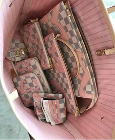 2017 Louis Vuitton Rose Ballerine Damier Azur Tahitienne Bags and Small Leather Goods. Source by adelehinds bag collection Louis Vuitton Damier, Sacs Louis Vuiton, Louis Vuitton Handbags, Louis Vuitton Monogram, Pink Louis Vuitton Bag, Louis Vuitton Wallet, Luxury Handbags, Fashion Handbags, Purses And Handbags