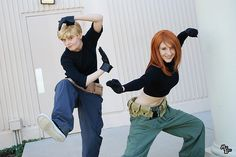Kim Possible and Ron Stoppable Cosplay! I was actually her for halloween once when I was like eight or nine... :)