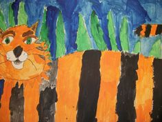 we heart art: terrr-iffic tigers!