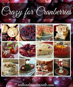 Crazy for Cranberries - Redhead Can Decorate