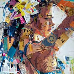 Stunning Collage Artworks by Derek Gores..... Love this multimedia want to try it!!