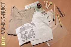 DIY: Shirt mit VW-Bus-Print | tagtraeumerin