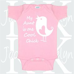 I get my attitude from my aunt custom name baby by jocelynkdesigns my aunt is one cool chick custom body suit one piece personalized baby clothing bodysuit onepiece gift from aunt adorable animals chick love negle Image collections