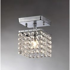 This little fabulous chandelier will definitely make your home brighter and prettier. It is about 5 inches wide and 6 inches high. Its dangling clear crystals showcase an elegant vibe which reflect th