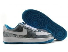 Nike Store. Nike Air Force 1 Low mens/womens shoes - Blue/White - Wholesale…