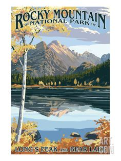 Long's Peak and Bear Lake - Rocky Mountain National Park Art Print by Lantern Press at Art.com