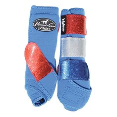 Limited Edition Red, White, and Blue Horse Boots from Professional's Choice VenTech Glitter Elite SMB- Large SP/RO