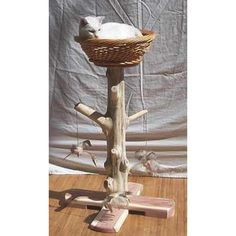 36 Inch Red Cedar Cat Scratching Post and Nest $179.99