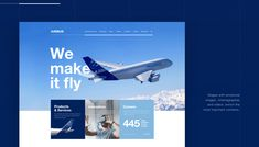 Airbus Corporate Web Estate on Behance