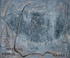 Fodore mytilis edulis, schilderij van Margot Braal .. Kunst / Abstract / Modern / Schilderij