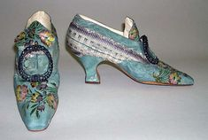 Manufacturer: Hellstern and Sons (French) Date: 1911 Culture: French Medium: silk, leather Slippers
