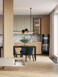 Kitchen Room Design, Kitchen Sets, Modern Kitchen Design, Interior Design Kitchen, Kitchen Decor, Modern Kitchen Interiors, Kitchen Colour Schemes, Cuisines Design, Apartment Interior
