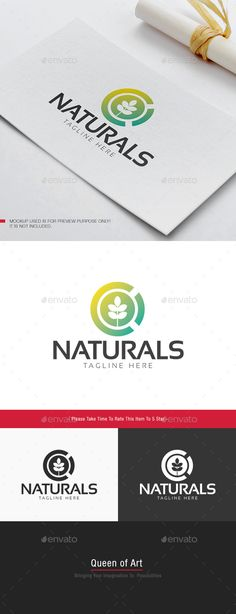 Naturals - Logo Design Template Vector #logotype Download it here: http://graphicriver.net/item/naturals-logo/14566987?s_rank=1045?ref=nexion