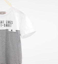 Imagem 3 de T-shirt riscas da Zara