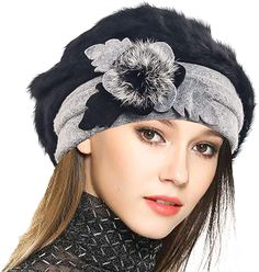 Shop Lady French Beret Wool Beret Floral Dress Beanie Winter Hat Angola-black and find the top most popular items of Women's Berets enjoy up to off. Wool Berets, Winter Dresses, Dress Winter, Winter Outfits, Cloche Hat, Beanie Hats, Women's Hats, Beanies, Headpieces