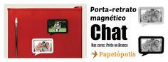 Porta-retrato magnético Chat. Vem buscar o seu na Papelópolis. #portaretrato #foto #photo #pictureframe #papelopolis www.facebook.com/papelopolis