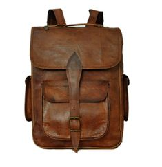 Handmade Leather Backpack, Satchel, Rucksack College, Office School, Men, Women on Etsy, $139.59