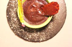 Cuisine: Carambar and chocolate lava cake