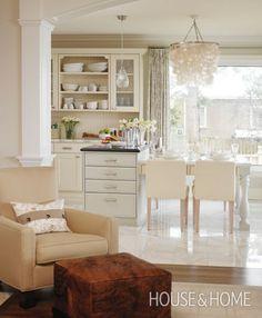 Photo Gallery: Sarah Richardson Designs   House & Home-wall color Cloverdale Paint Savana Oaks