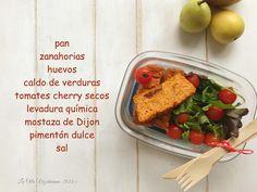 Pudin de zanahorias y tomates secos