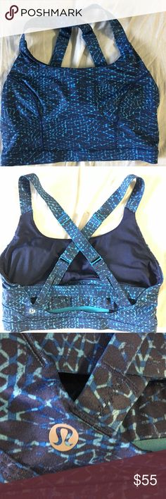 Lululemon Criss Cross Back Sports Bra- Size S Great condition. Back straps adjustable. Super cute! Originally $68 lululemon athletica Intimates & Sleepwear Bras
