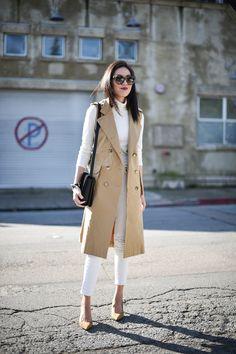15 Trendy Sleeveless Coat Outfits 2016
