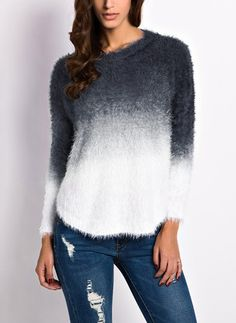Polyester Round Neckline Color Block Tight Others Sweaters
