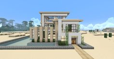 Modern Minecraft House - I wish I could do this... :/k