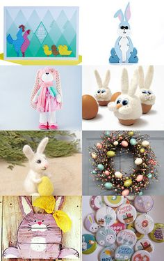 It's Bunny Time by Dix Cutler on Etsy--Pinned with TreasuryPin.com