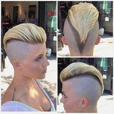 Hair And Beauty London Short Hair Dont Care, Girl Short Hair, Short Hair Cuts, Short Hair Styles, Pixie Cuts, Undercut Hairstyles Women, Short Hairstyles For Women, Cool Hairstyles, Shaved Hairstyles
