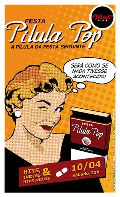 Party flyer. Pílula Pop