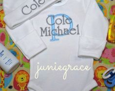 Baby Boy Clothes Baby Boy Coming Home Outfit Take by juniegrace