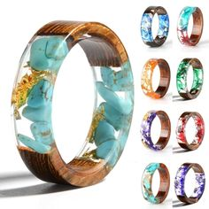 Cheap Rings, Buy Directly from China Suppliers:New Design Colorful Rings for Women Men Clear Wood Resin Ring Vintage Party Club Handmade Dried Flower Epoxy Rings Drop Shipping Resin Ring, Resin Jewelry, Jewelry Rings, Fine Jewelry, Flower Jewelry, Couple Jewelry, Vintage Party, Wedding Jewelry, Wedding Rings