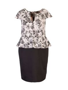 Inspire Shell Pink Floral 2 in 1 Peplum Dress Teen Fashion, Pinup, New Look, Peplum Dress, Latest Trends, Shell, Tunic Tops, Plus Size, Inspired