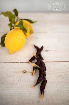 scorze di limone candite al cioccolato fondente