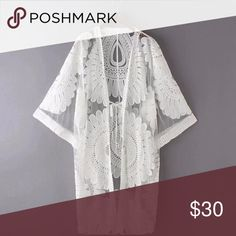 Floral Embroidery Swimwear Cover Up White Beach Cover Up is a top Floral Embroidery Swimwear Cover Up made from Cotton and Polyester. The fit is true to size and a must have Swim Suit Cover Up for 2017. Available in Short or Long Fit. Very Lovely, Pretty and Top Reviews! Swim Coverups