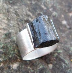 Black+Tourmaline+Ring.+Adjustable+Ring++Black+Tourmaline+by+Unics,+$42.00