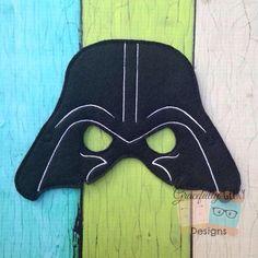 Vader Felt Mask Embroidery Design - 5x7 Hoop or Larger