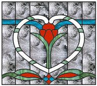 Heart Pattern - The White House Stained Glass and Basketry